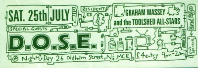 Sat 25 :July - Graham Massey and the Toolshed All-Stars (Live) - Night And Day, Manchester, England (featuring D.O.S.E.)