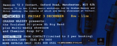 Toolshed XL Big Band (Live) - Session #72 - Contact Theatre, Manchester, England