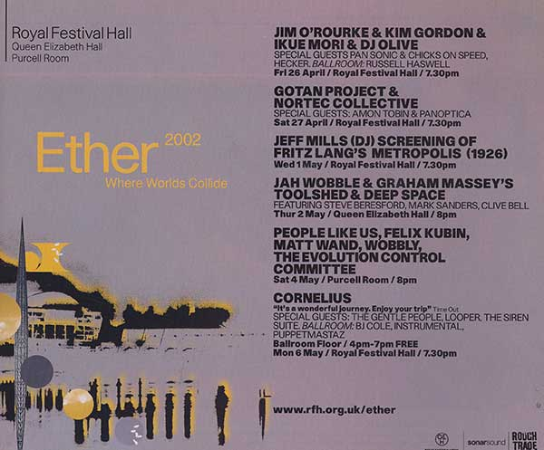 Toolshed (Live) - Ether 2002 - Queen Elizabeth Hall - London (with Jah Wobble)