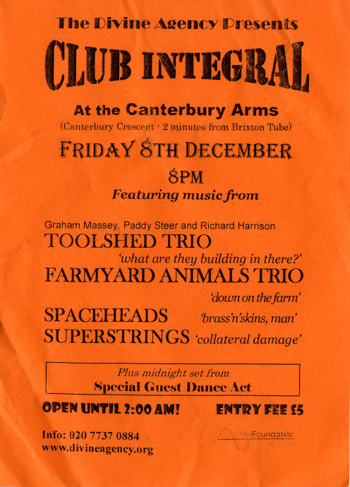 Club Integral at the Canterbury Arms