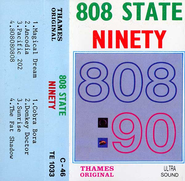 "808 State - 90 - Asian ""Thames Original"" - Cassette - Front"