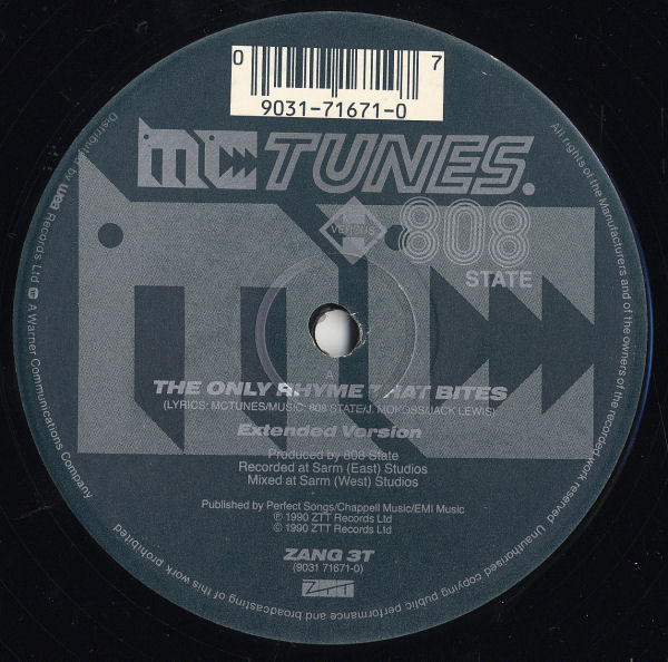 MC Tunes vs. 808 State - The Only Rhyme That Bites