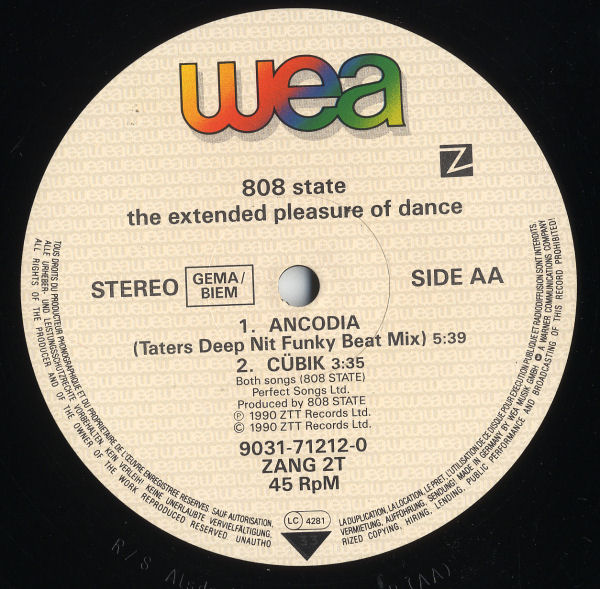 808 State - The Extended Pleasures Of Dance EP