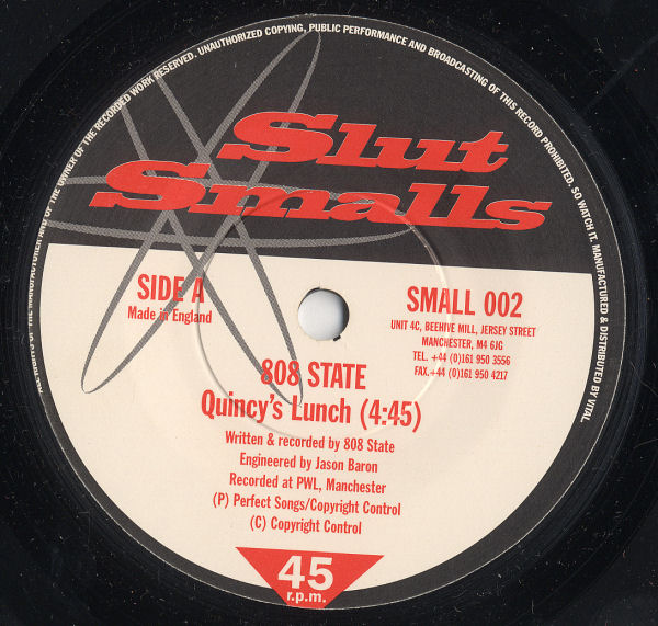 "808 State - Quincy's Lunch - UK 7"" Single - Side A"