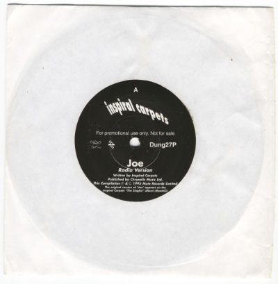 "Inspiral Carpets - Joe - UK Reissue 7"" Promo Single - front"