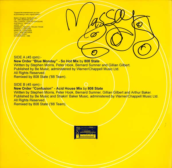 New order acid house mixes by 808 state 1988 for Acid house mix
