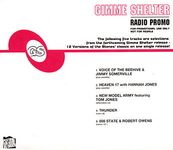 Various - Gimme Shelter - Radio Promo - UK Promo 5-track CD Single - CD