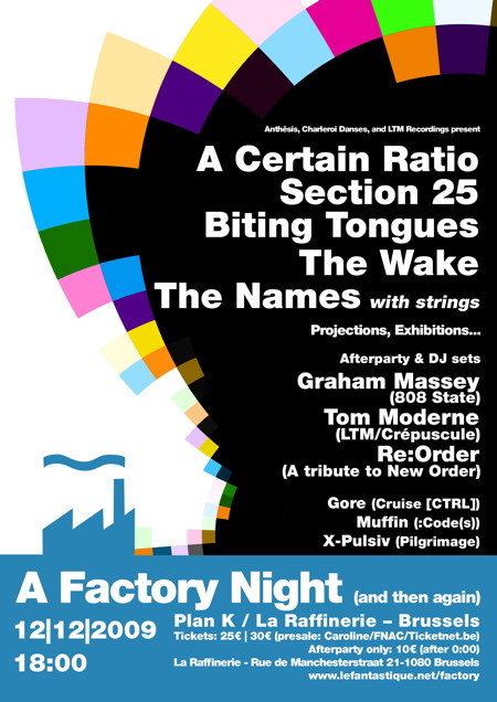 A Factory Night (and then again) - Plan K, Brussels, 12/12/2009 - flyer