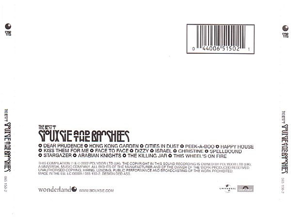 The Best Of Siouxsie And The Banshees - UK 2xCD - CD 1 Back
