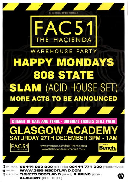 hacienda glasgow flyer