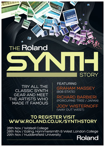 Roland Synth Story flyer