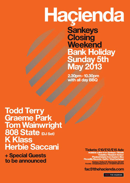 Hacienda Sankeys 5 May 2013 808 DJs flyer