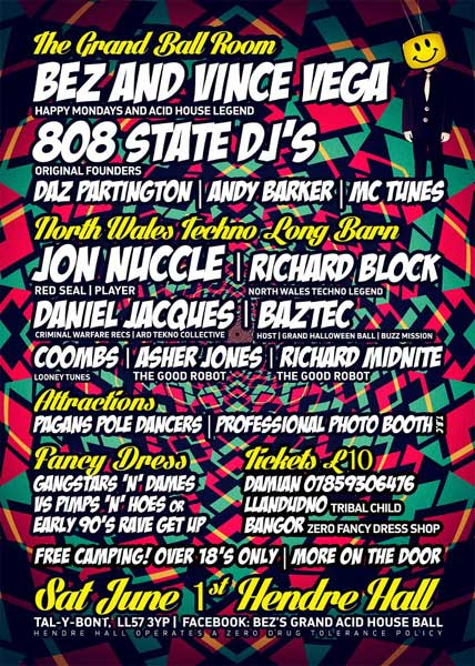 Bez's Grand Acid House Ball Hendre 1 Jun 2013 flyer