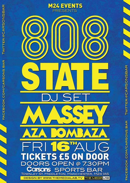 808 DJs flyer Carsons 16 Aug 2013
