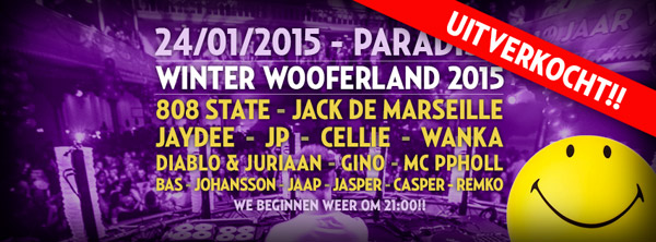 Flyer Winter Wooferland Paradiso 24 Jan 2015