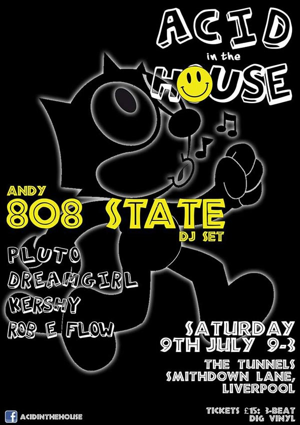Flyer Andy 808 DJ set Tunnels Liverpool 9 July 2016