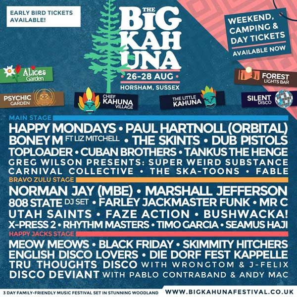 Flyer Big Kahuna Festival 808 State DJ Andy August 2016