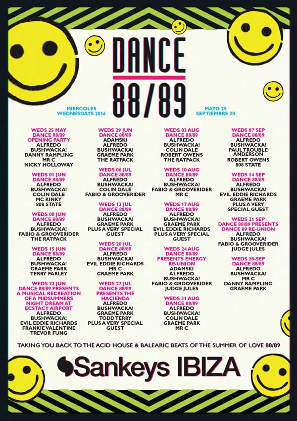 Sankeys Ibiza Flyer 2016