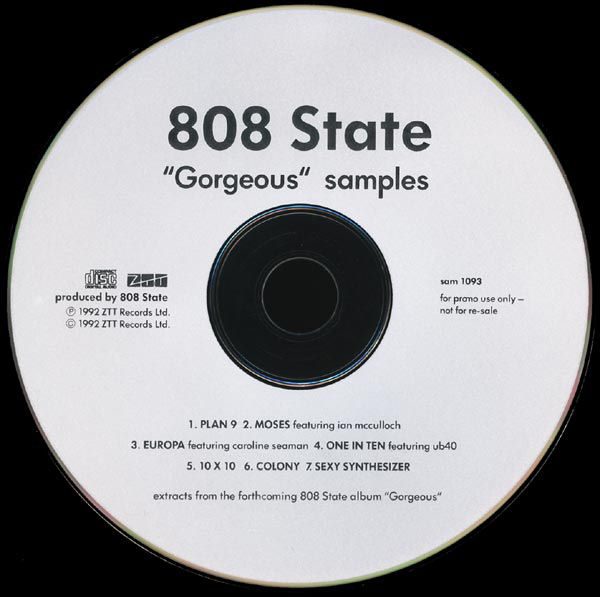 808 State - Gorgeous Samples