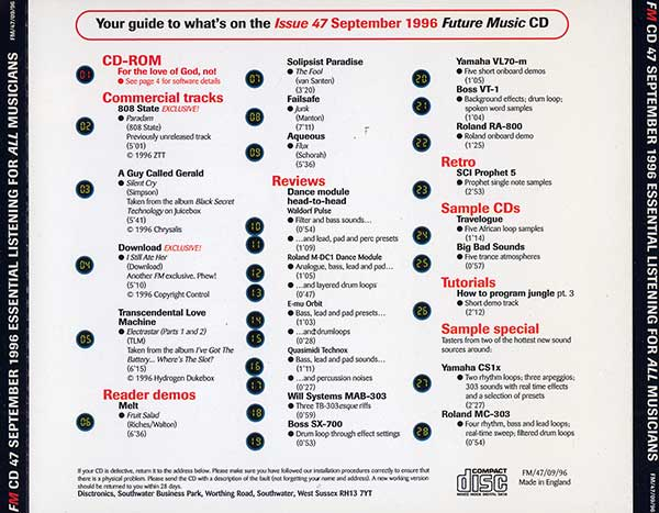 Various - Future Music CD - September 1996