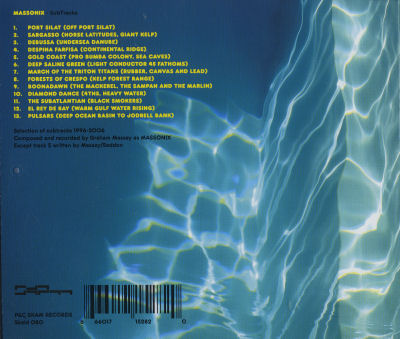 Massonix - Subtracks - UK CD - Back Cover