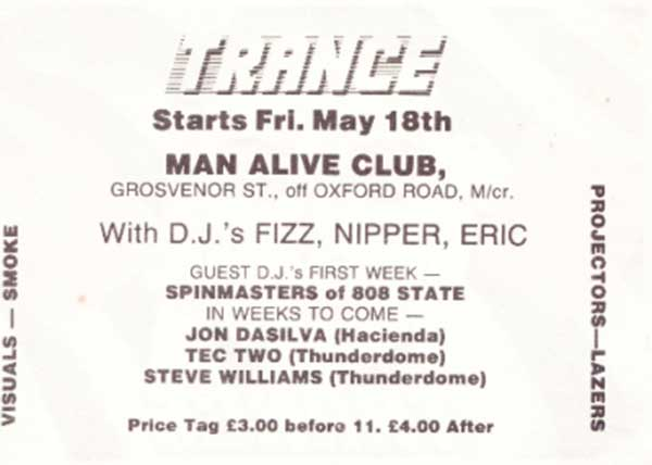 Fri 18:May - Spinmasters DJ - Trance, Man Alive Club, Manchester, England