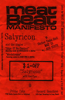 Sat 15:May - 808 State Live - Compton Swapmeet - Compton, California, USA (supporting Meat Beat Manifesto, Supreme Love Gods & Sven Vath) [Change of venue from Shrine Expo Hall, Los Angeles, California]