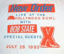 Mon 26:July - 808 State Live - Hollywood Bowl - Los Angeles, California, USA (supporting New Order)