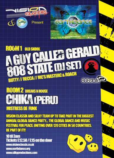 808 State DJs + A Guy Called Gerald - Earthdance 2004 @ Dry Bar - Manchester.