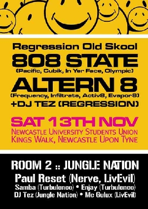 Sat:13:Nov - 808 State DJs @ Regression - Newcastle Uni - Newcastle upon Tyne.
