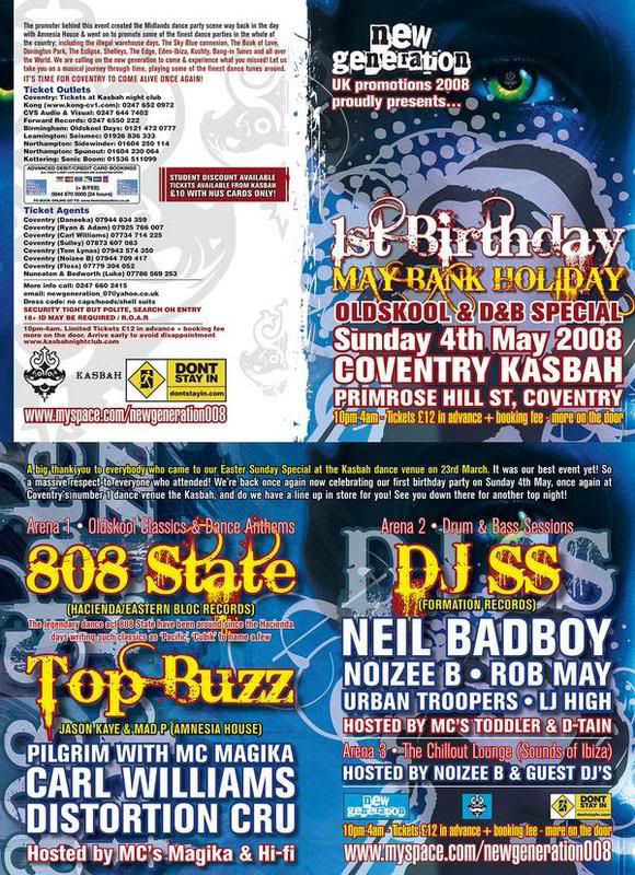 Sun:04:May:08 - 808 State DJs - Kasbah - Coventry.